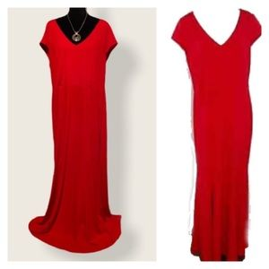 Eloquii Red Maxi Dress w/ side slit…Worn once only